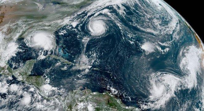 5 grandes tempestades se formam ao mesmo tempo no Atlântico pela 2ª vez na história e ameaçam EUA