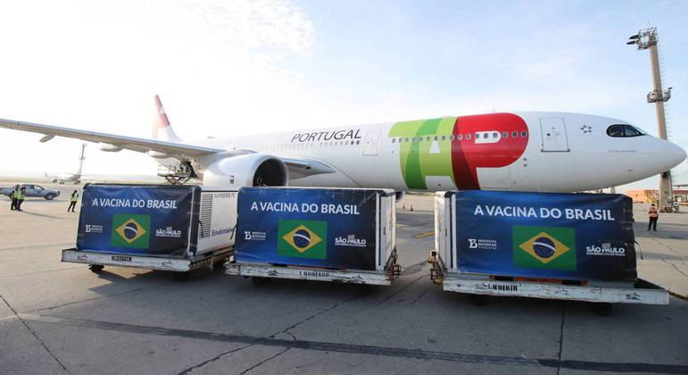 Chega a São Paulo novo lote de insumos da CoronaVac