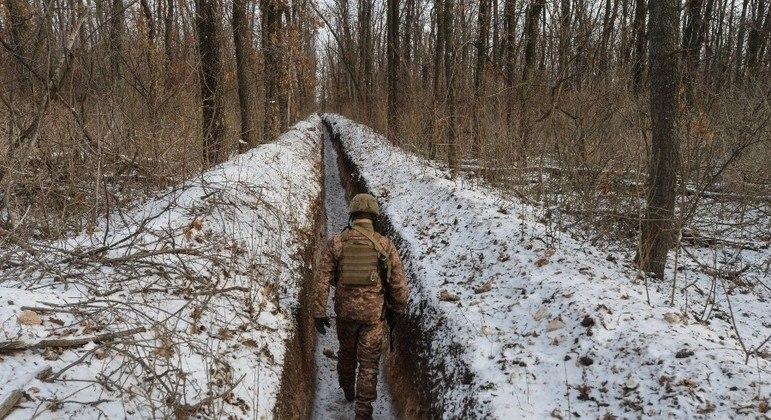 Ucranianos se mobilizam diante de ameaça russa na fronteira